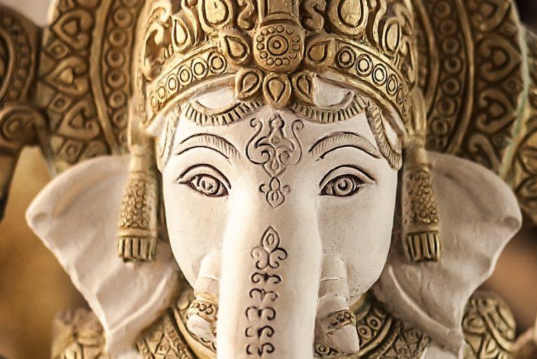 Worshipping Lord Ganesha